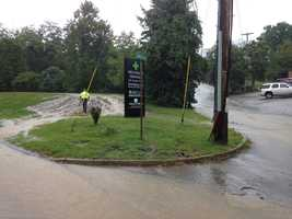 The flooding happened on Macbeth Drive at Route 48 (Mosside Boulevard).