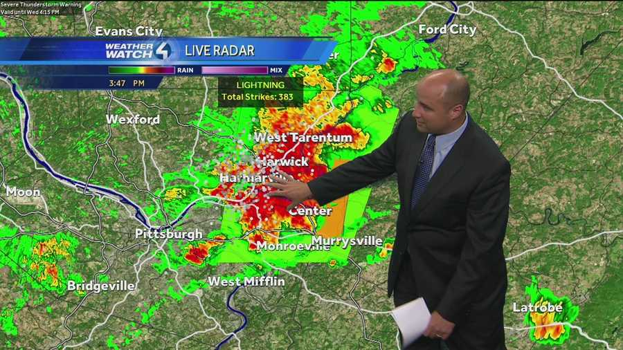 A severe thunderstorm watch is in effect until 9 p.m. for many counties throughout western Pennsylvania.- See full list of counties under alert- See the latest forecast-Track storms on interactive radar
