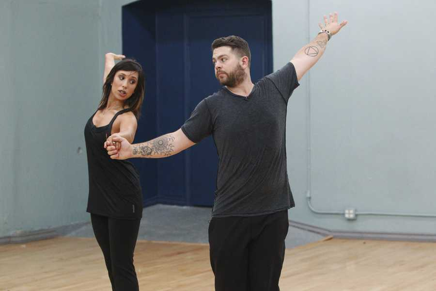 "CHERYL BURKE & JACK OSBOURNE - This season's dynamic lineup of stars -- including a sitcom legend, a reality mega-star, a football champion and a pop music sensation - will perform for the first time on live national television with their professional partners during the two-hour season premiere of ""Dancing with the Stars. (Photo Credit: ABC/Rick Rowell)"