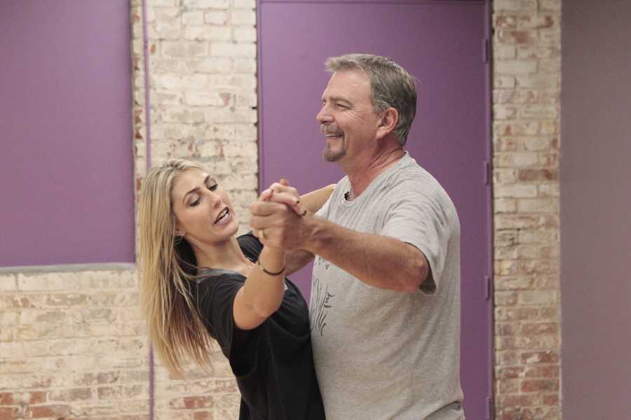 "EMMA SLATER & BILL ENGVALL - This season's dynamic lineup of stars -- including a sitcom legend, a reality mega-star, a football champion and a pop music sensation - will perform for the first time on live national television with their professional partners during the two-hour season premiere of ""Dancing with the Stars. (Photo Credit: ABC/Rick Rowell)"