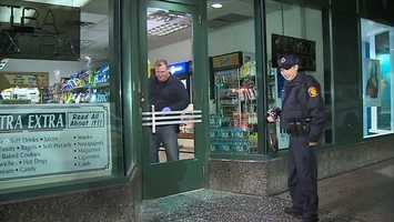 The Extra Extra convenience store on Seventh Avenue was burglarized overnight.
