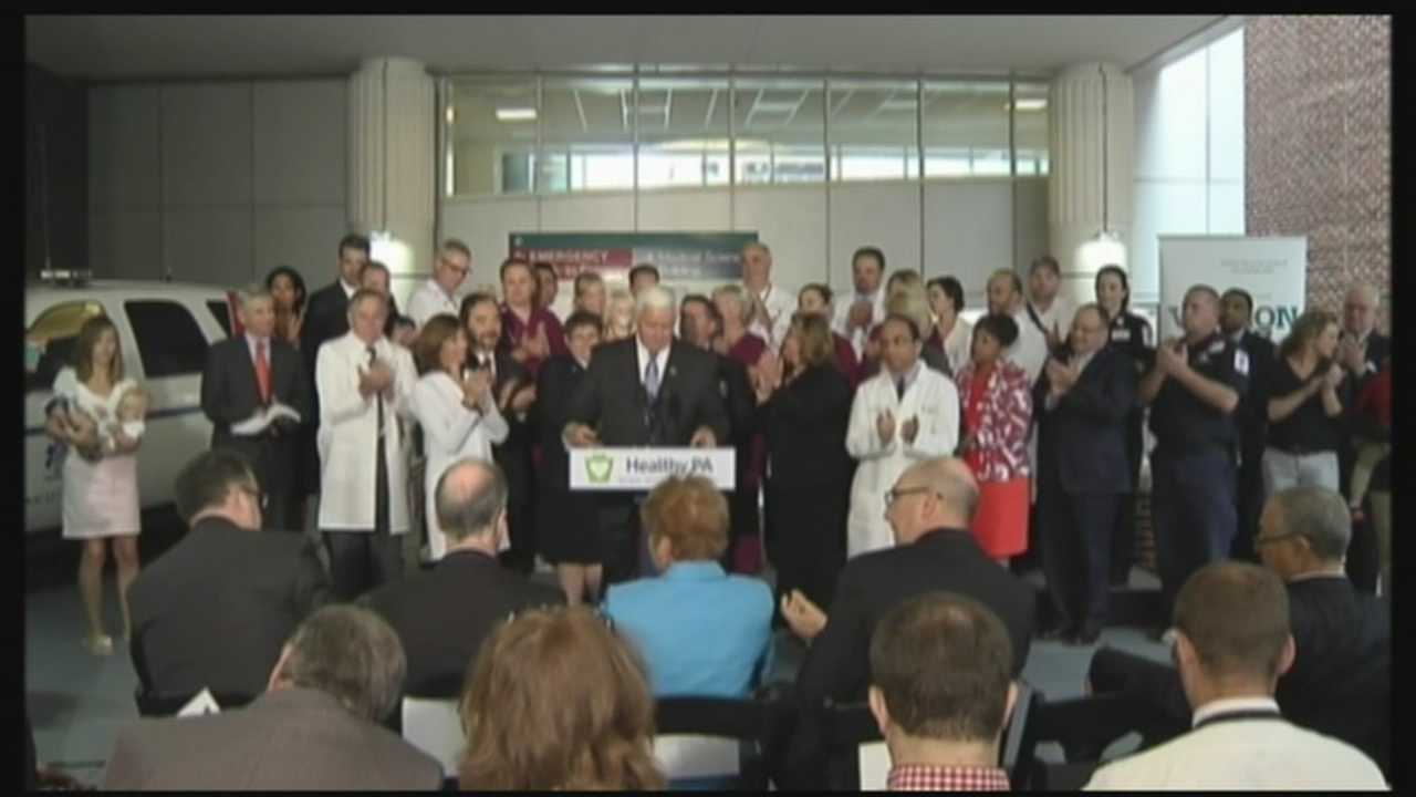 Governor Tom Corbett unveiled his 'Healthy Pennsylvania' plan for providing all Pennsylvanians with access to affordable, quality healthcare options.