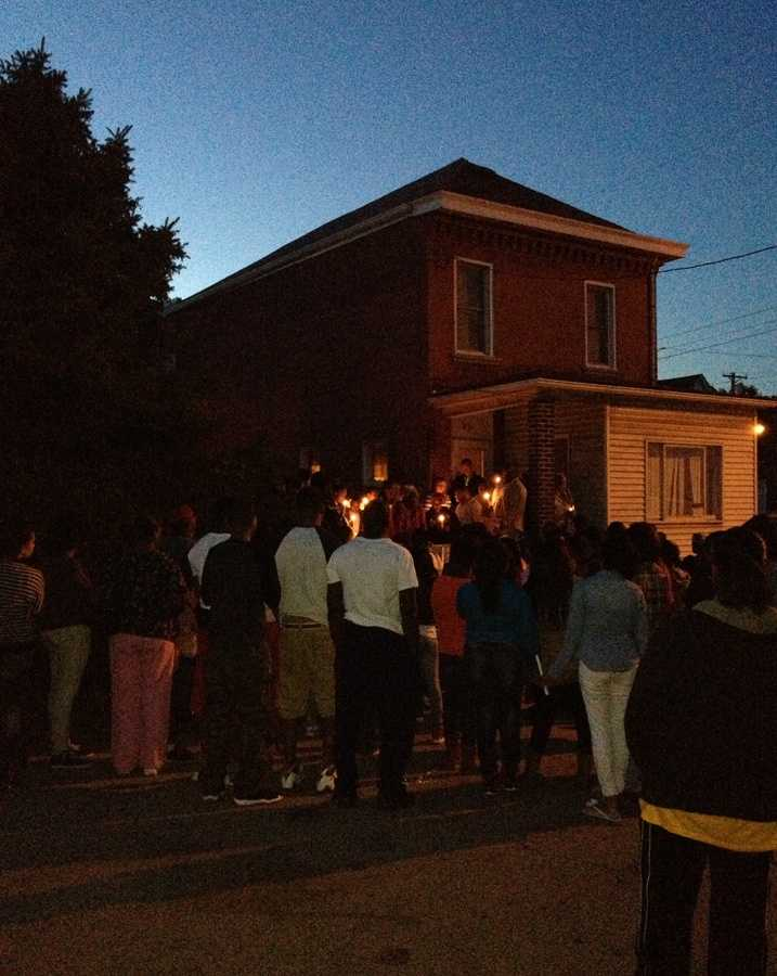 A candlelight vigil was held for Derrail Roilton in Braddock.