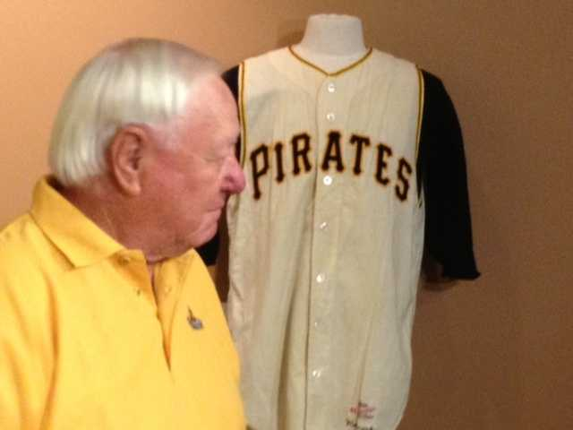 Mazeroski had several personal items auctioned at the Louisville Slugger Museum & Factory, including the jersey he wore in Game 7 of the 1960 World Series.