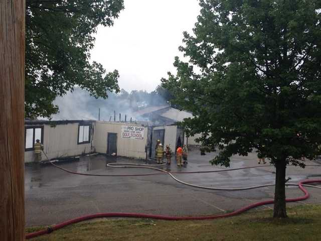 Here is a look at the burned-out building after the Cool Springs fire.