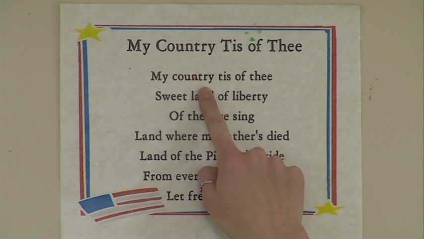 "The kids learned about ""My Country, 'Tis of Thee."""