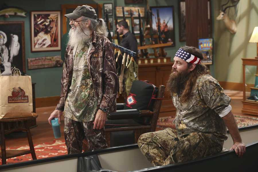 Mike finds that Mandy's steady boyfriend Kyle's new interest in philosophy is distracting him from his work at The Outdoor Man Store. A solution may be in the offing when camo-wearing and regular customers Brody (Willie Robertson) and Uncle Ray (Si Robertson) come to the sporting goods store to get outfitted for their annual moose hunting expedition. Meanwhile, Mike is skeptical about his grandson Boyd attending a bilingual school and wants Kristin and Ryan to switch Boyd to a school in his neighborhood.
