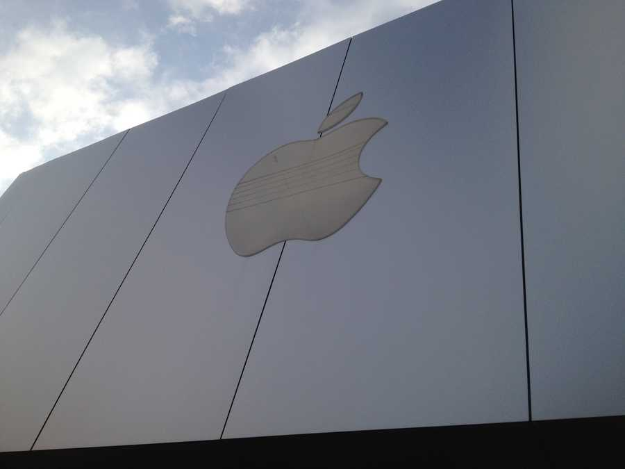 The Apple store.