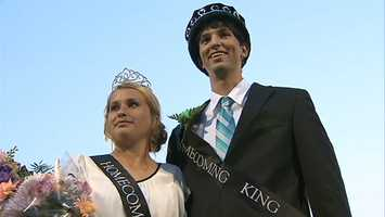 The district has named its first homecoming queen who is a football player.