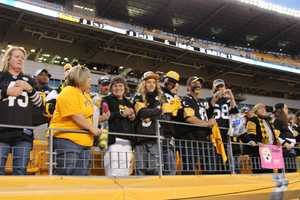 Fans from across the region filled Heinz Field for the Steelers vs Bears game for prime time Sunday Night Football. (Photo by Maggie Nagle/WTAE-TV)