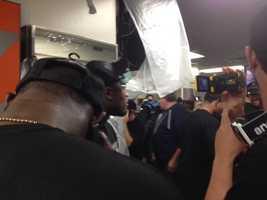 Here's the scene in the locker room.