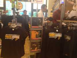 Fans were at the Majestic Clubhouse Store at 9 a.m., waiting for the doors to open so they could buy Pirates playoff merchandise.