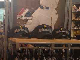 Here are the MLB postseason caps with the Pirates logo on them.