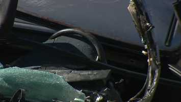 The woman's 5-year-old daughter and 2-year-old son were also in the car at the time of the crash, but both of those children are OK, police said.