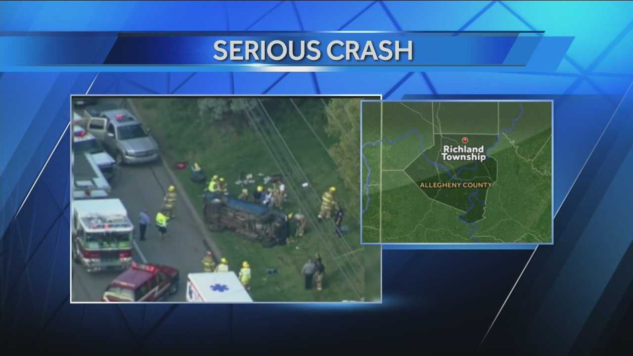 2 vehicles collide on Route 8 in Richland Township
