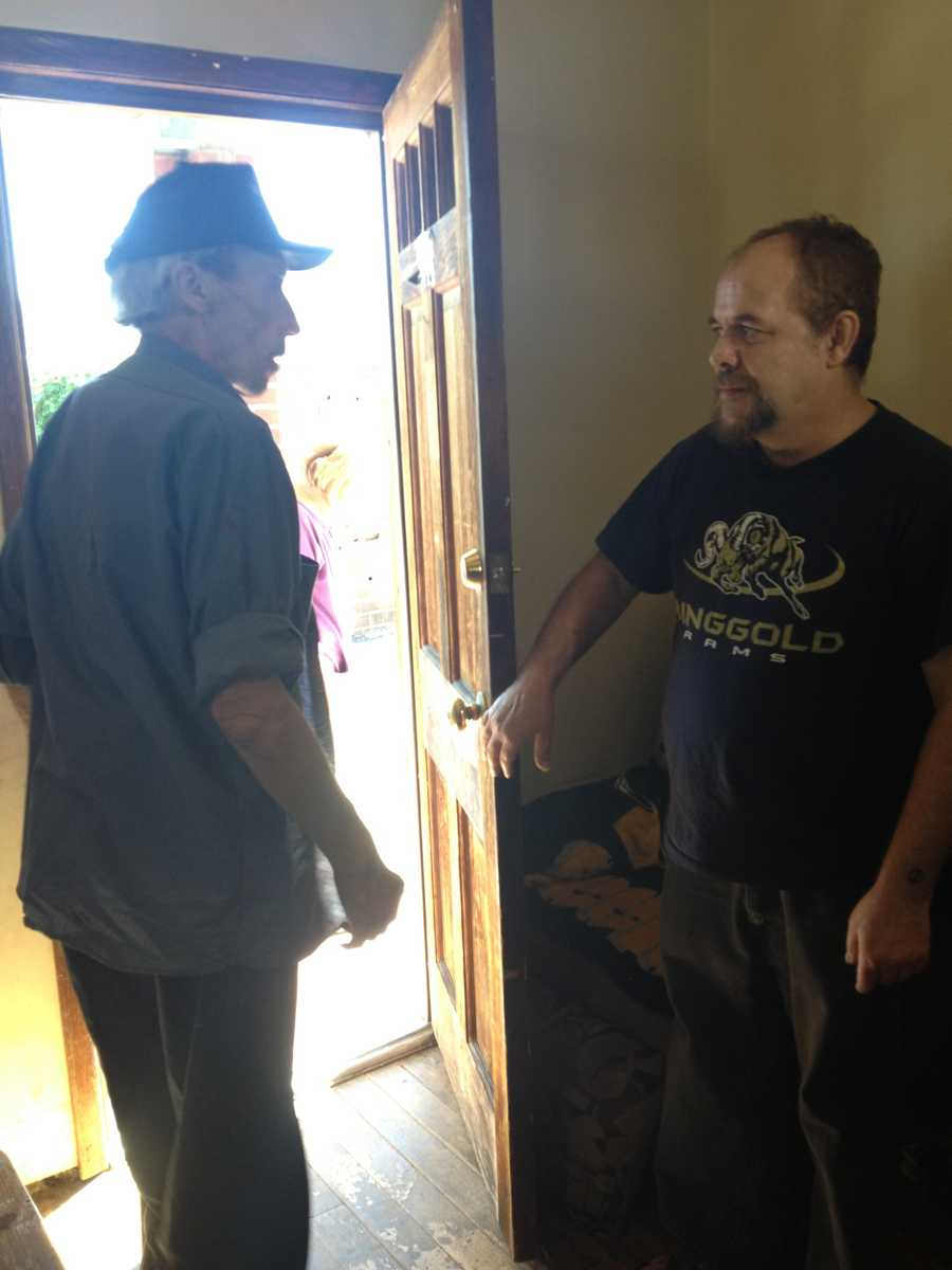 Robert Johnston and Pete Conrad met for the first time Thursday.