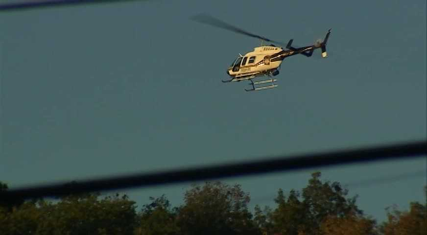 The wounded trooper was flown to UPMC Altoona.