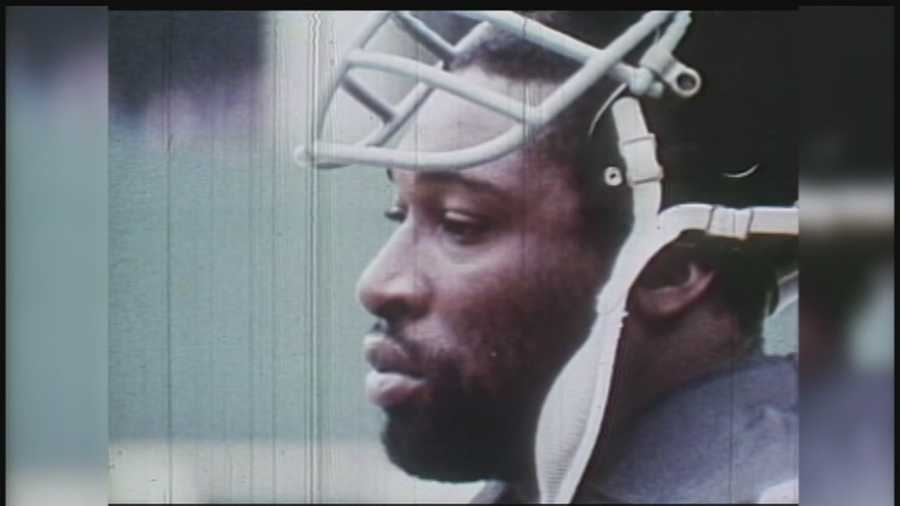 """L.C. Greenwood was one-fourth of Pittsburgh'sfamous """"Steel Curtain"""" defense in the 1970s."""