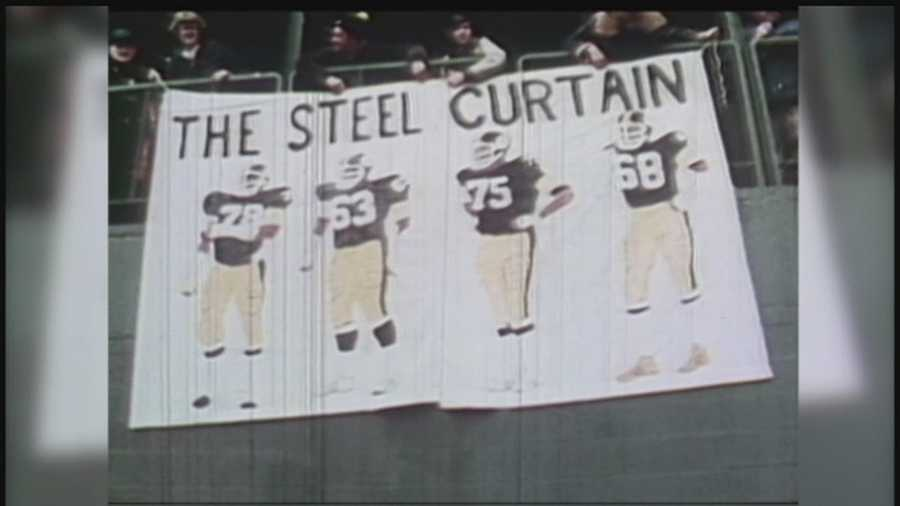 """The """"Steel Curtain"""" was the nickname of the front four of the Steelers' ferocious defensive line in the 1970s: Dwight White, Ernie Holmes, Joe Greene and L.C. Greenwood."""
