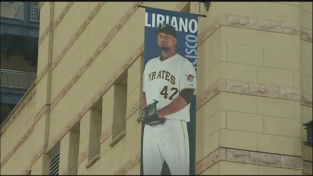 The Francisco Liriano banner at PNC Park.