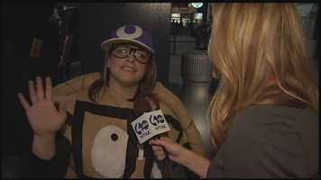 No, this isn't Oliver Onion's girlfriend. This fan was so excited about the Pirates being in the wild card game, she went to PNC Park dressed as a pierogie.