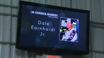 NASCAR superstar Dale Earnhardt Jr. visited BMX coal mine in Claysville on Wednesday, where he experienced firsthand how vital the industry is.