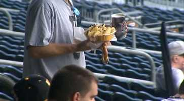 A cold drink, a warm pretzel and some nachos on a nice day at the ballpark. What could be better?