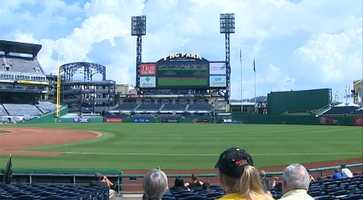 Game 2 of the NL Division Series was televised live from St. Louis on the scoreboard at PNC Park. Admission was free to fans who wanted to watch the game in the ballpark.