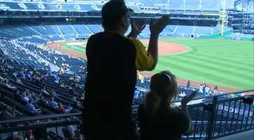 In Pittsburgh, there was no baseball on the field but there were fans in the stands at PNC Park.