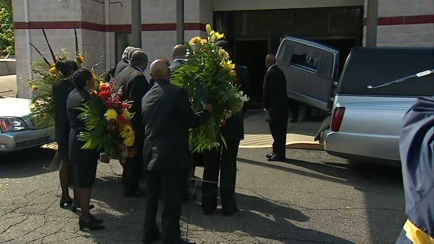 Funeral services for L.C. Greenwood were held at the Pentecostal Temple Church of God in Christ in East Liberty.