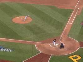 Marlon Byrd takes a swing.