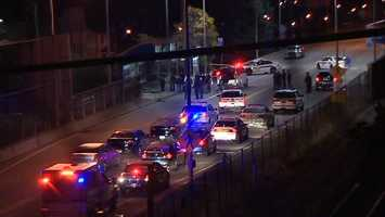 The Pittsburgh and Port Authority police departments responded to the fatal shooting at the Homewood station on the busway.