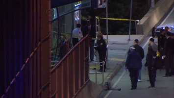 Pittsburgh police said Omar Islam was waiting for a bus at the inbound stop when three people showed up and tried to rob him.