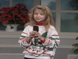 """Christina Aguilera is from Wexford, PA... In this photo from Christmas Eve 1991, she performs live from the WTAE Channel 4 studios with """"Silent Night"""""""
