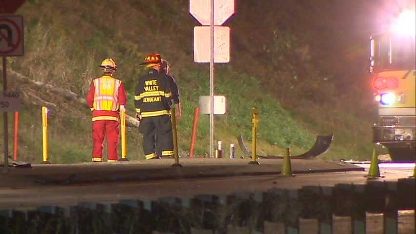 The fatal crash on Route 22 temporarily closed the highway near Mellon Road.