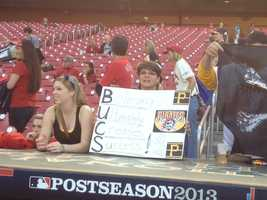 "Brittney Leigh: ""Thank you for an awesome year. No matter win or lose you buccos are number one in my heart!! Next season i know yins will do even better and win the series!! We have a great team!! Looking forward to next season!! Congrats guys!!!!"""