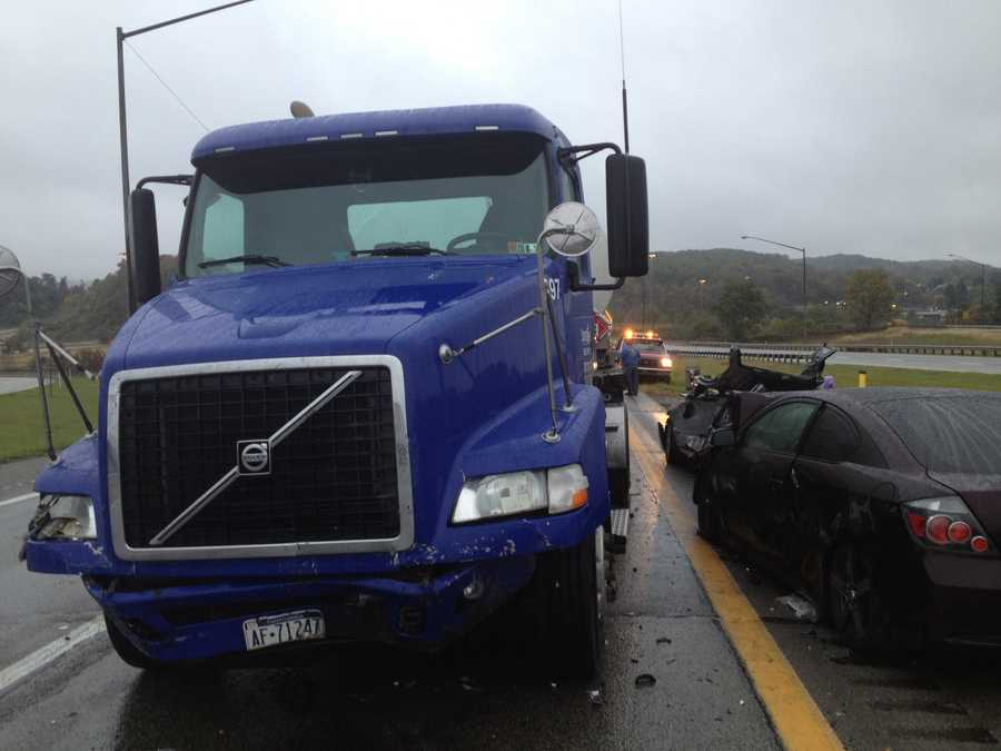 A tractor-trailer and three passenger vehicles were involved in an accident on Route 119 in the Tarrs area of Westmoreland County.