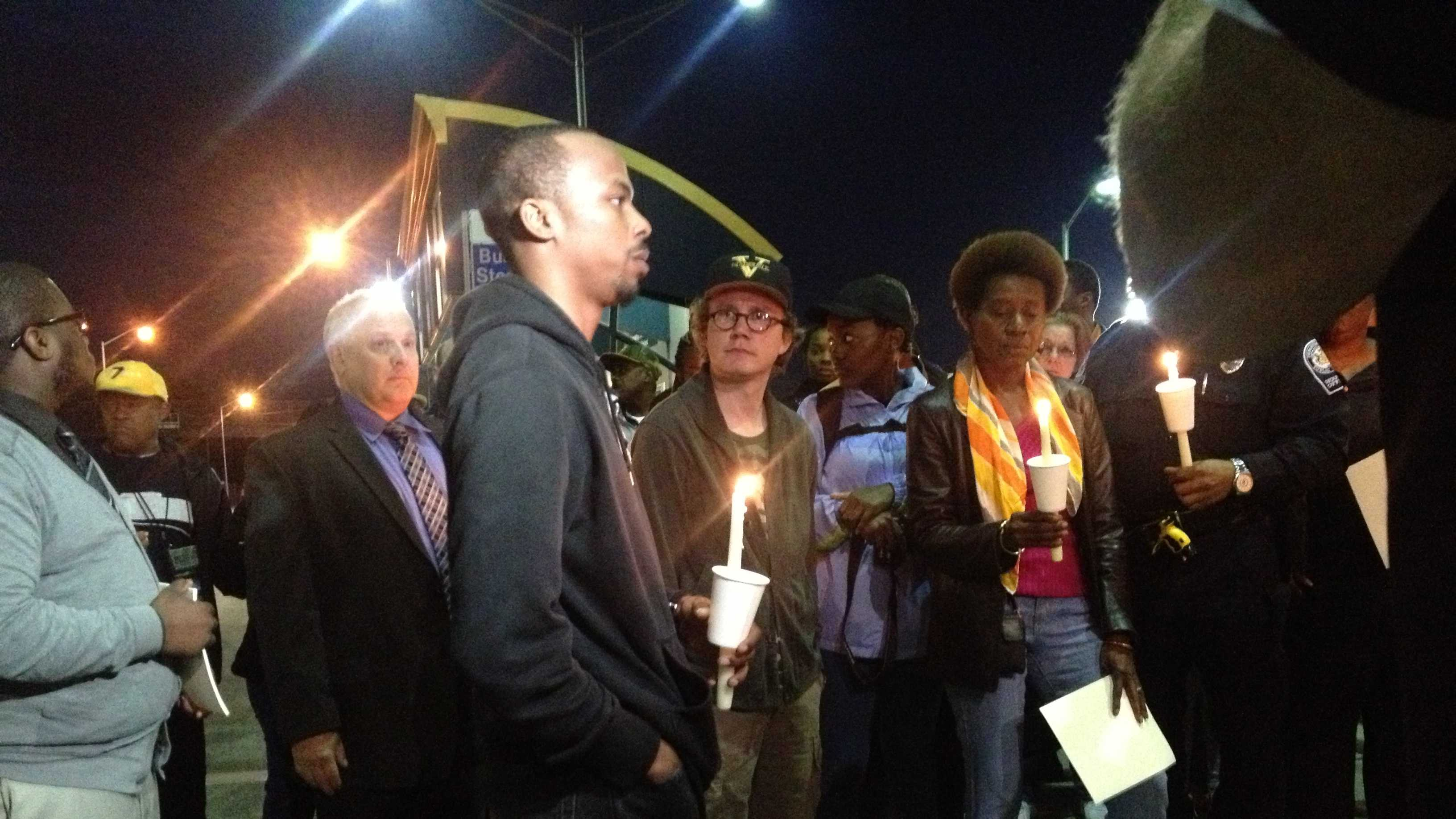 Family and friends held a vigil at the East Busway in Homewood to remember Omar Islam.