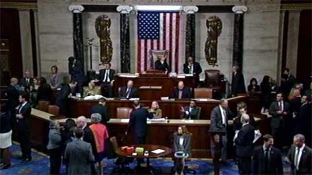 House votes on shutdown measure