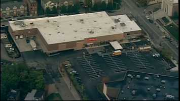 An overhead look at the new Shop 'n Save grocery store in the Centre Heldman Plaza in the Hill District.