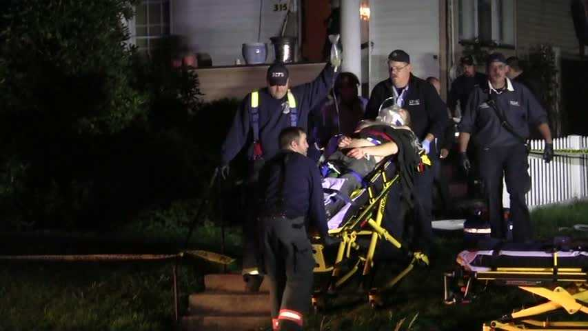 A woman, her husband and another man were all shot at the couple's home in New Castle.