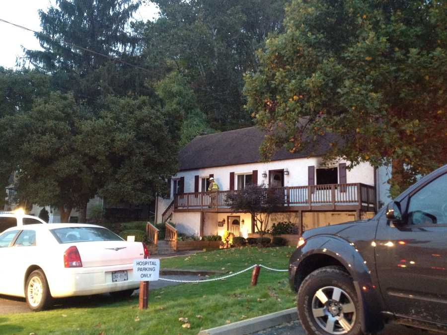 Fire crews responded to a home fire around 5am this morning in Robinson Township and has left two people in the hospital. The Allegheny Fire Marshal's Office is currently investigating the fire.