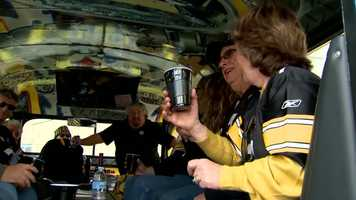 """""""Blue collar, call it what you want. I don't find … in my travels, Pittsburghers, you find a fellow Pittsburgh Steeler fan, it's like you're family,"""" said Mafrica."""