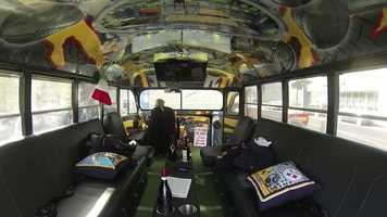 A number of Steeler greats, including Pouncey, Rocky Bleier and Louie Lipps, have signed the interior of the bus, which is decorated with images of the franchise's six Lombardi Trophies and Super Bowl rings, leather seats, field turf and a satellite TV. It's all a tribute to the Pittsburgh way.