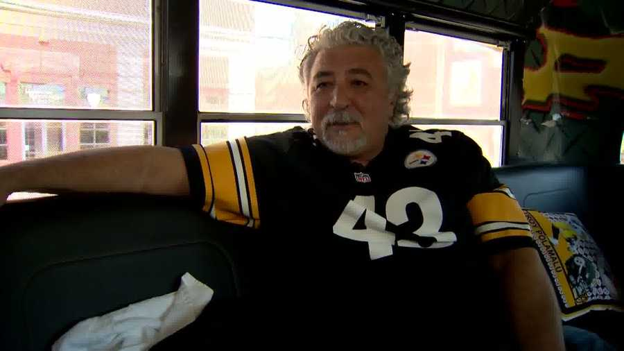 """I think it just goes back to I was in high school and Franco Harris and the Italian Army and that intrigued me, and I started watching the Steelers play and I just have a love for them. It doesn't go away,"" said fellow Calgarian Joe Ferraro while sporting a Troy Polamalu jersey."
