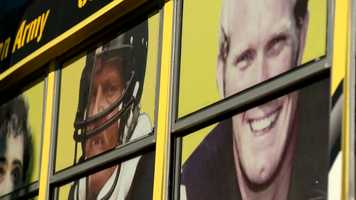 """""""We want to preserve the past, which on the one side of the bus we have Franco and Terry Bradshaw and of course Jack Lambert,"""" said Mafrica."""