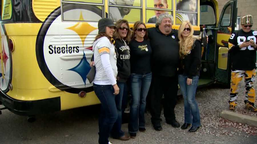 And many members of his extended Steelers family have stopped by for pictures, tailgating and a tour of their $100,000 investment on wheels.