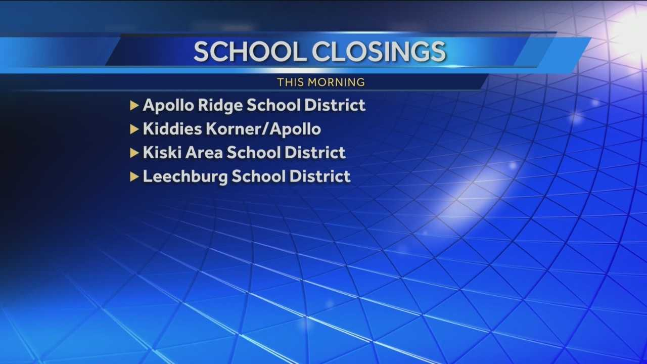 Find out which school districts are closed today.