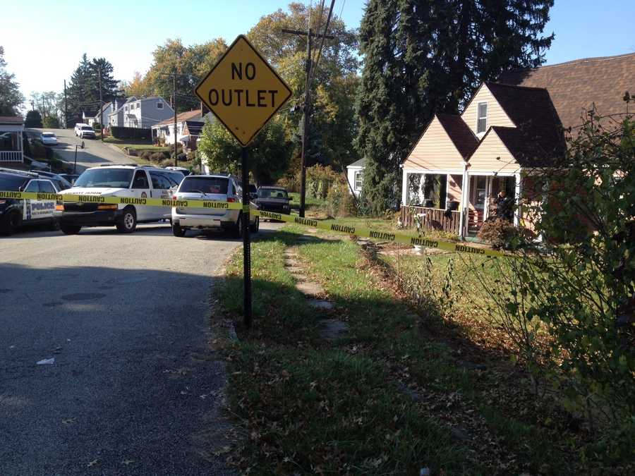 Allegheny County police say a woman and her husband were found dead inside the couple's home in North Versailles.