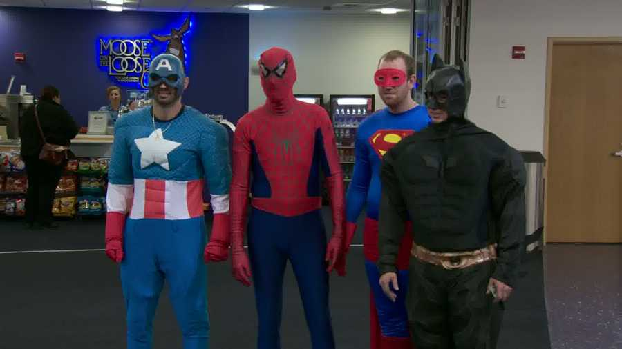 Did you know that Captain America, Spider-Man, Superman and Batman moonlight as window washers?